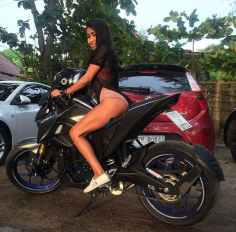 Hot Thai babe on motorbike