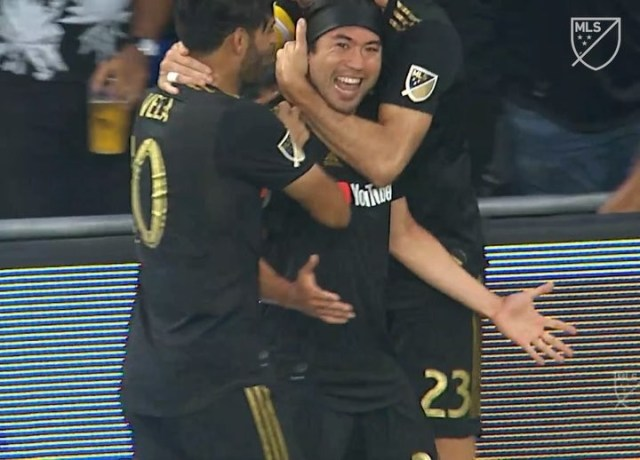 hot sale online 5116e 4744b Watch: Lee Nguyen score his first goal as a LAFC with a long ...