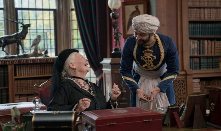 Judi Dench - Ali Fazal - Queen Victoria taking lessons in Urdu from her Munshi, Abdul Karim - Victoria and Abdul