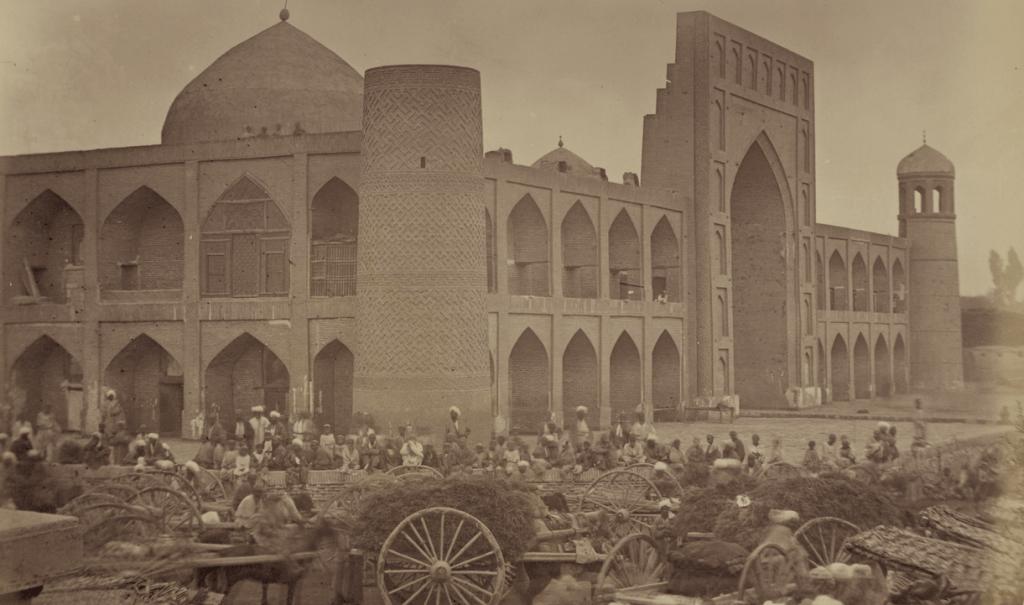 The Madali Khan Madrasa in Kokand, taken in the 1860s (Wikimedia)