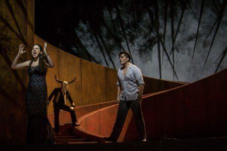 Marie Karall and Giancarlo Monsalve in Opera Hong Kong's Carmen