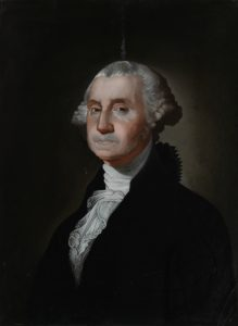 A Canton-produced reverse-glass copy of Gilbert Stuart's George Washington