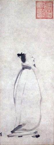 Li Bai, 13th c. scroll (National Museum of Tokyo, via Wikimedia Commons)
