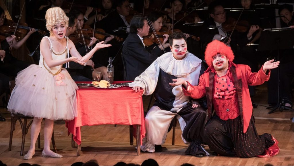 Louise Kwong, Hao Xingwa and Sun Li in I Pagliacci