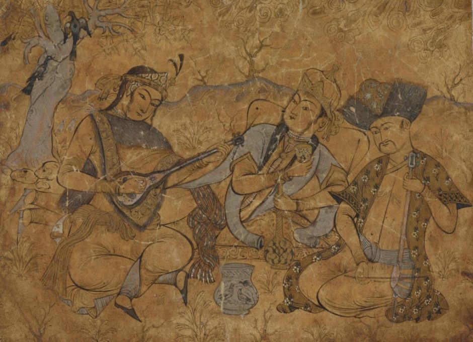 Musicians, 19th-century copy of Safavid original (State Hermitage Museum)