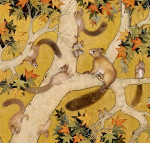 Squirrels in a plane tree (detail) c. 1610