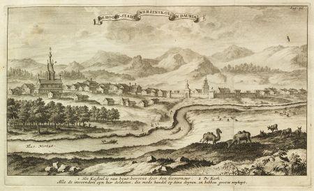 Nerchinsk (Eberhard Isbrand Ides 1710: Wikimedia Commons)