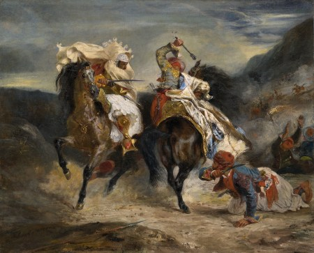 The Combat of the Giaour and Hassan,  Eugène Delacroix 1826 (Art Institute of Chicago)