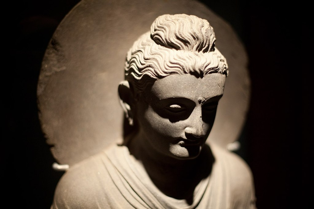 Buddha from Gandhara (via Wikimedia Commons)
