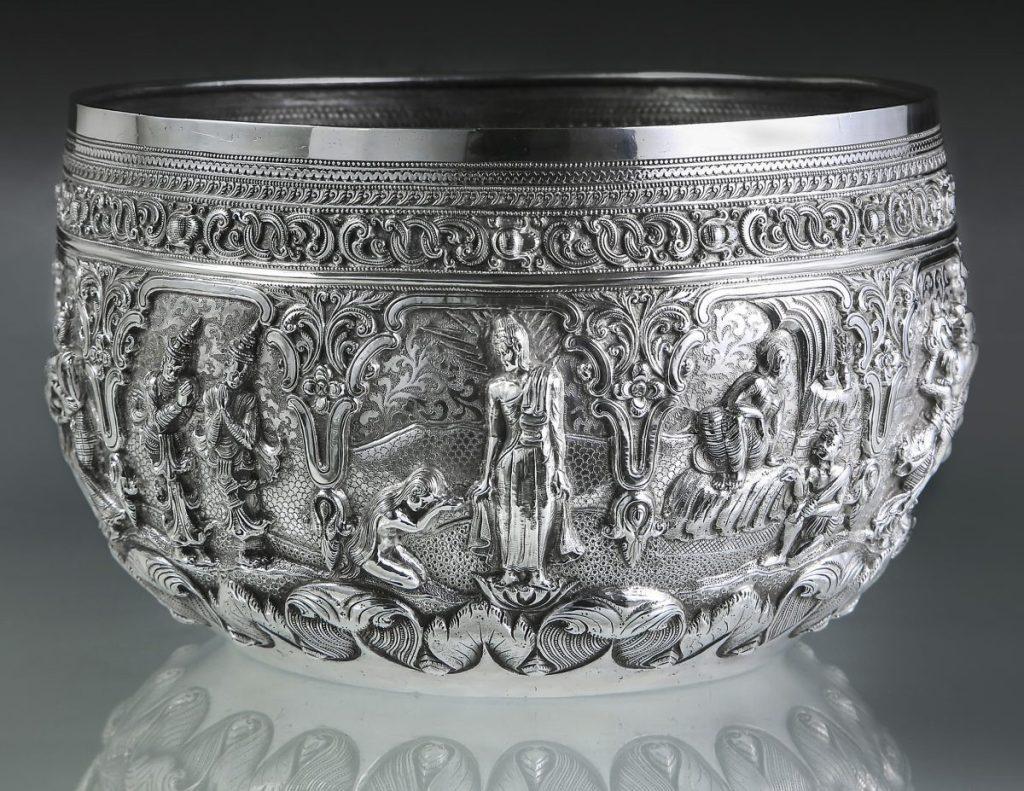 Offering Bowl, c. 1880;  Maung Shwe Yon, Lower Burma, Patacara Therigatha