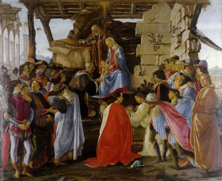 Adoration of the Mago, Sandro Botticelli, ca 1475