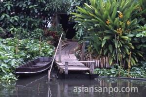 タイ バンコク・ワットサイ水上マーケット