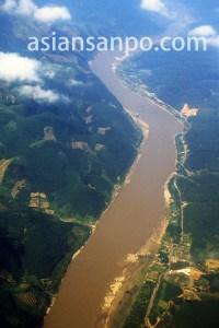 中国 景洪のメコン川