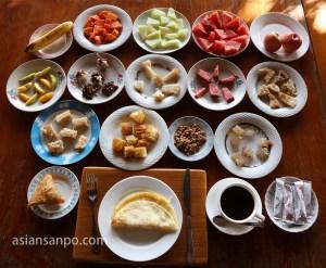 ミャンマー タウングー朝食_