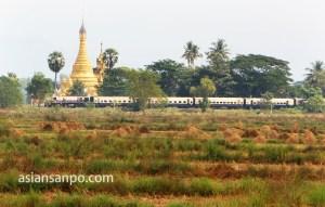ミャンマー タウングーーバゴー 列車