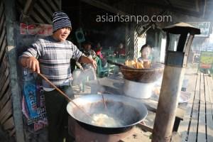 ミャンマー カムティ 揚げパン