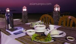 ミャンマー チャオピュー 夕食