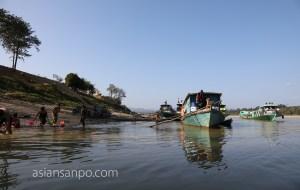 ミャンマー カムティ チンドウィン川