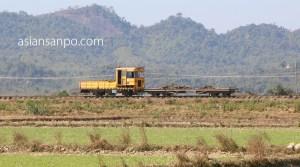 ミャンマー ラカイン州 ミャウーーシットウェイ 鉄道