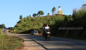 ミャンマー アン 仏像