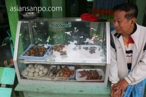 ミャンマー カレイワ 食堂