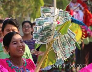 ミャンマー シュエボー 得度式