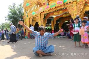 ミャンマー カターシュエボー 得度式