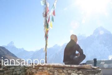 ネパール エベレスト街道 クンデ 瞑想