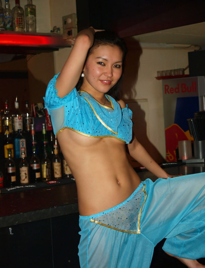 Sexy Mongolian Is Undressing At Public Bar  Asian Sexiest -9795