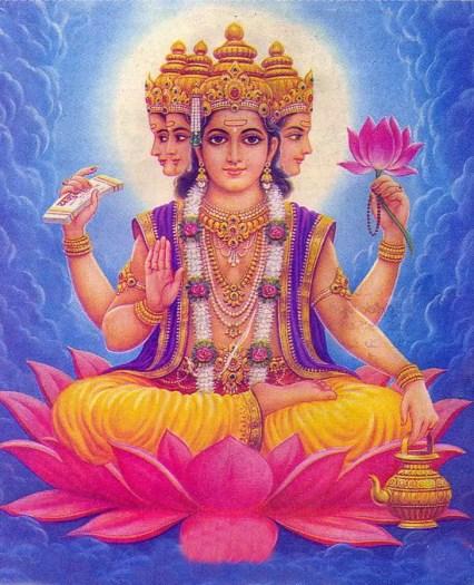 Le dieu Brahma Hindouisme