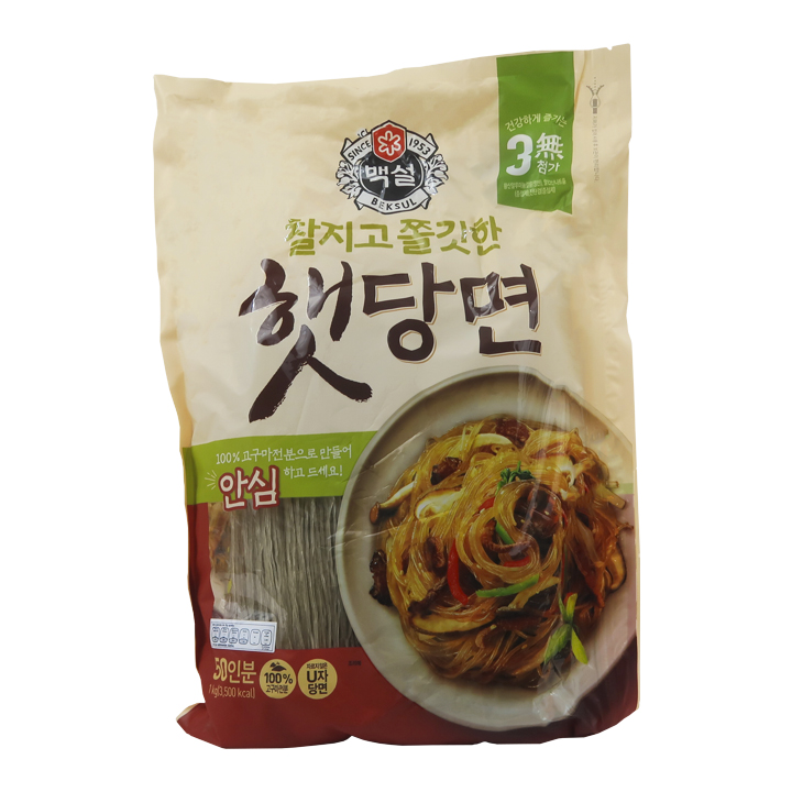 dangmyeon, fideos, fideos dangmyeon, camote, sweet potato, fideos celofán, starch noodles, fideos transparentes, fideos coreanos, dangmyeon noodles, korean noodles, comida coreana, korean food, cj beksul, beksul