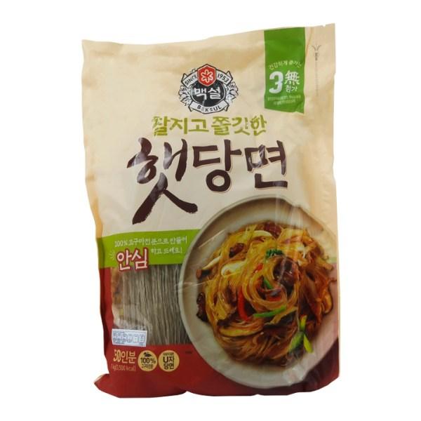 dangmyeon, fideos, fideos dangmyeon, camote, sweet potato, fideos celofán, starch noodles, fideos transparentes, fideos coreanos, dangmyeon noodles, korean noodles, comida coreana, korean food, cj beksul, beksul