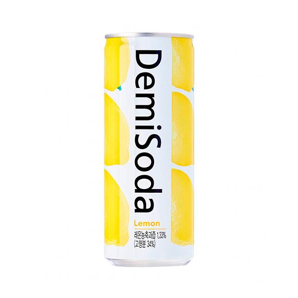 Demisoda bebida carbonatada sabor limón 250 ML