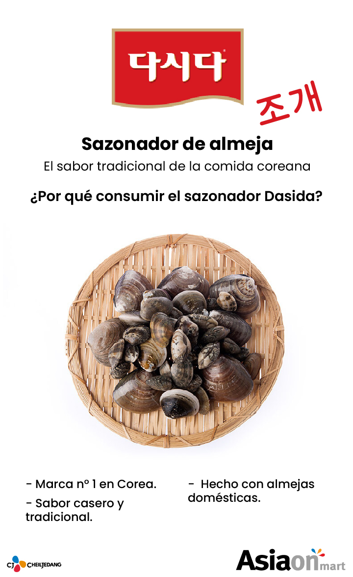 CJ Dasida Sazonador Sabor Almeja