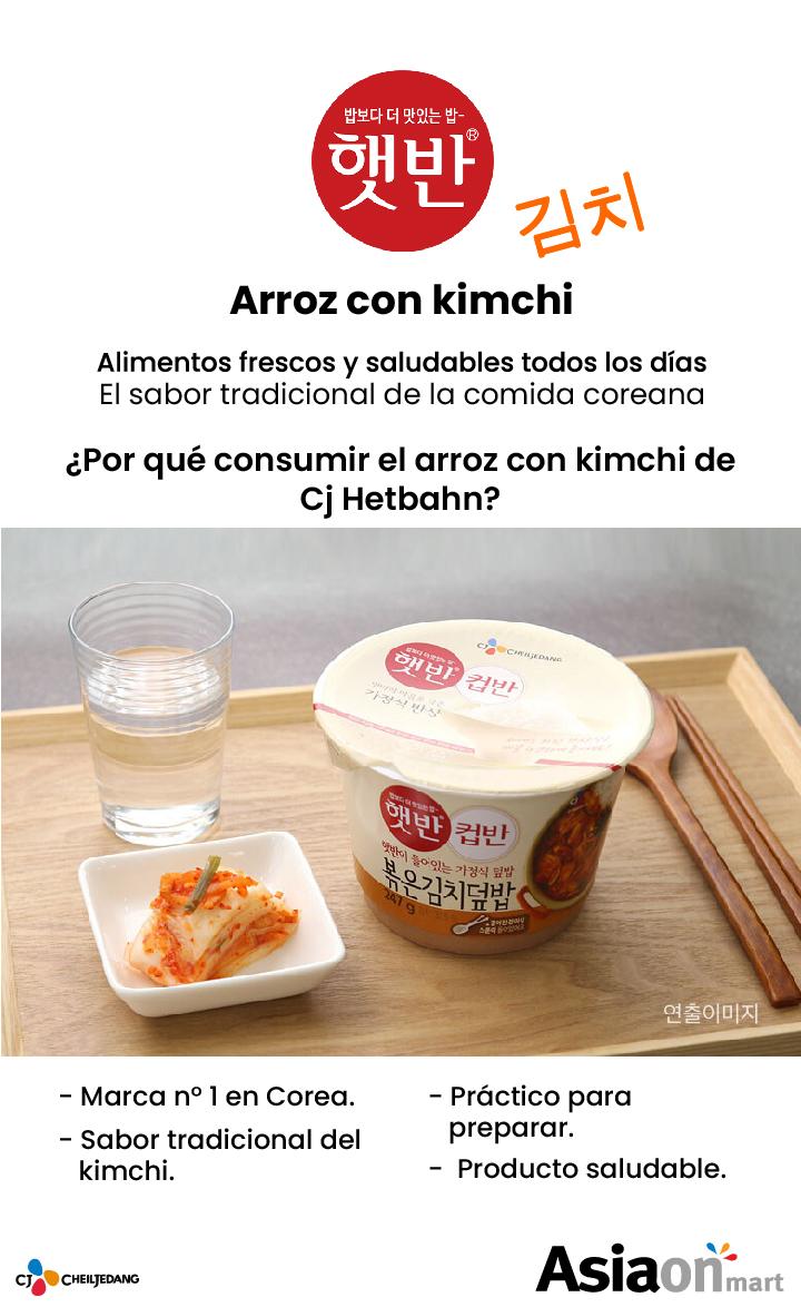 Cj Cupbahn arroz con kimchi frito