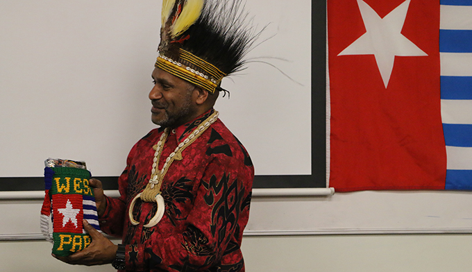 """""""Lifelong"""" Free West Papua advocate Benny Wenda says New Zealand support is integral to the global campaign. Image: Kendall Hutt/PMC"""