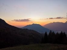 Zachód słońca, Monte Barro, Como