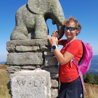 pomnik słonika, czeska strona Śnieżnik