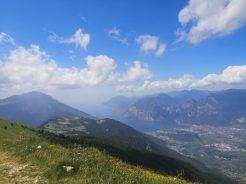 Widok, góry, Garda, Monte sTIVO