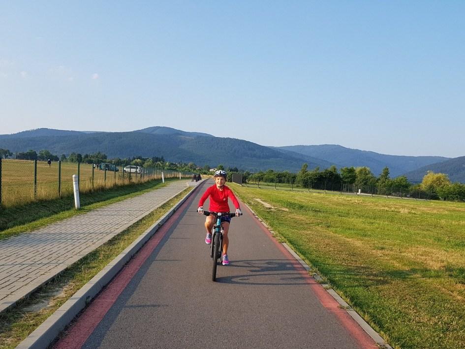 dziewczyna, rower, nauka jazdy