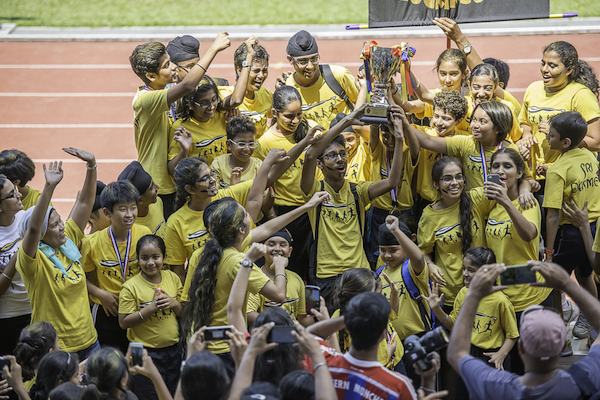 Team Yellow emerged as champions of Sri Dasmesh International School (SDIS) Sports Day 2015 - PHOTO UNION BLISS PHOTOGRAPHERS