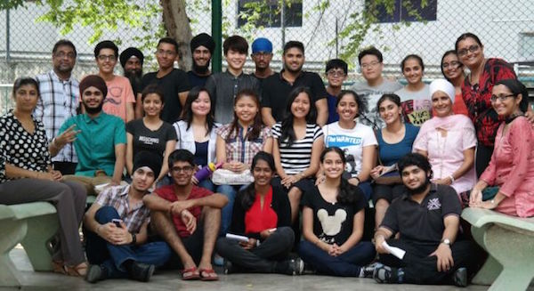 Sri Dasmesh students in a group photo with their teachers after the release of the SPM results