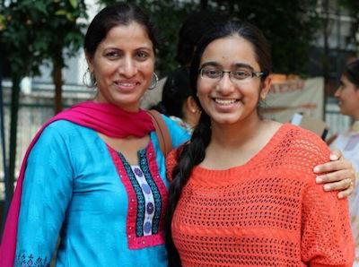 Top scorer Harpreet Kaur with her mum Pramjit Kaur