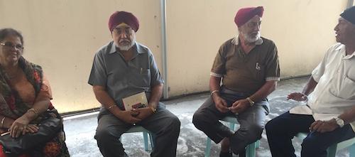 KELANTAN SIKHS: (L-R) Surinder Kaur from Kuala Krai. Gurbax Singh, Gian Singh from Kuala Krai and Santok Singh from Gua Musang.