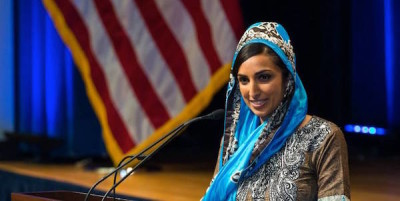 Valarie Kaur's Pentagon Vaisakhi speech from last Friday is featured in the Huffington Post today. Valarie joined Inni Kaur and Simran Jeet Singh as one of three featured speakers at the event. - PHOTO COURTESY OF THE SIKH COALITION