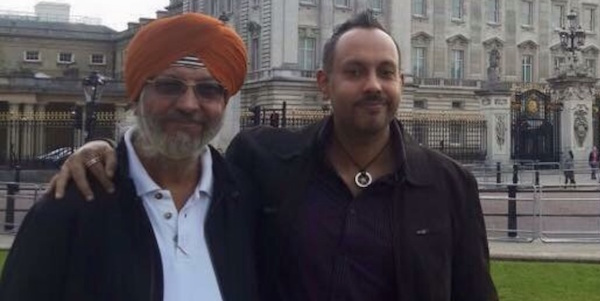 Bagh Singh (left) and his son Harpal Singh during a recent vacation