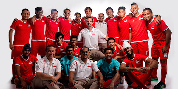 Brothers Jaspal (left) and Ishwarpal dons Singapore jersey for men hockey in SEA Games 2015.