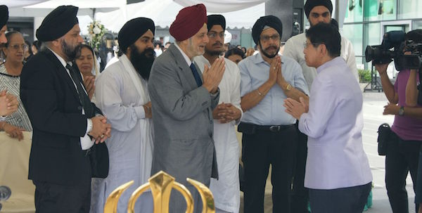 Thai Sikh representatives at the Bangkok memorial service today.