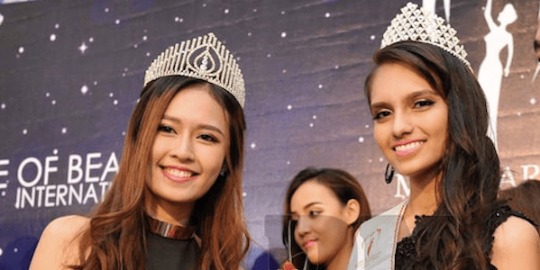Amreet Kaur (right) wins the Malaysia Miss Earth Penang. She will now head for the national level competition in August.