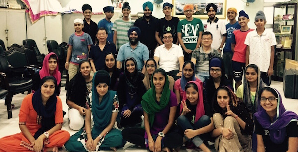 Sikh youth in Hong Kong underwent a first aid course recently. Jesmeet Singh is seen seating with the first aid examiners.